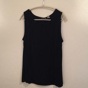 Chico's silky dressy black sleeveless shirt size 3